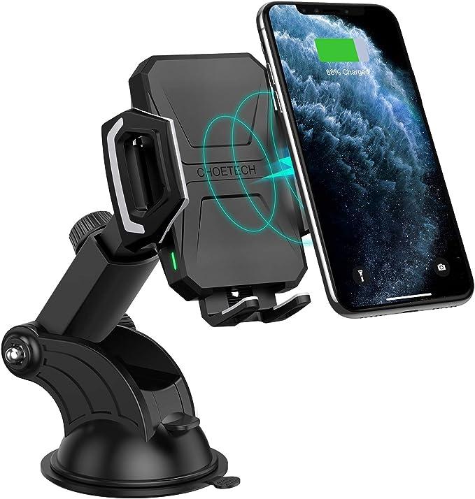 Choetech 7 5w 10w Fast Wireless Charger Auto Qi Kfz Drahtloses Ladegerät Handyhalterung Schnelles Aufladen Zu Galaxy S20 S10 S9 Note 20 10 9 Huawei Elektronik