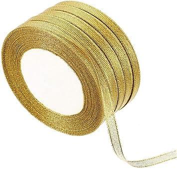 3 m feuille d/'or Bordure ruban satin pour craft mariage fête décoration