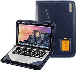 "Broonel - Contour Series - Blue Heavy Duty Leather Protective Case - Compatible with The Dell 17 XPS 9700 17.3"" Laptop"