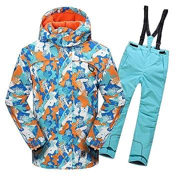 Gski Chico Chaqueta y Pantalones de Esquí Resistente al Viento, Templado, Ventilación Esquí/