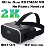 All in one VR Headset Android, 2K Display Interactive Standalone VR Glasses for 3D Movie Game 360° Panorama Theater with OTG WiFi TF Card Input, 9-Axis Virtual Reality Headset System (No Need Phone)