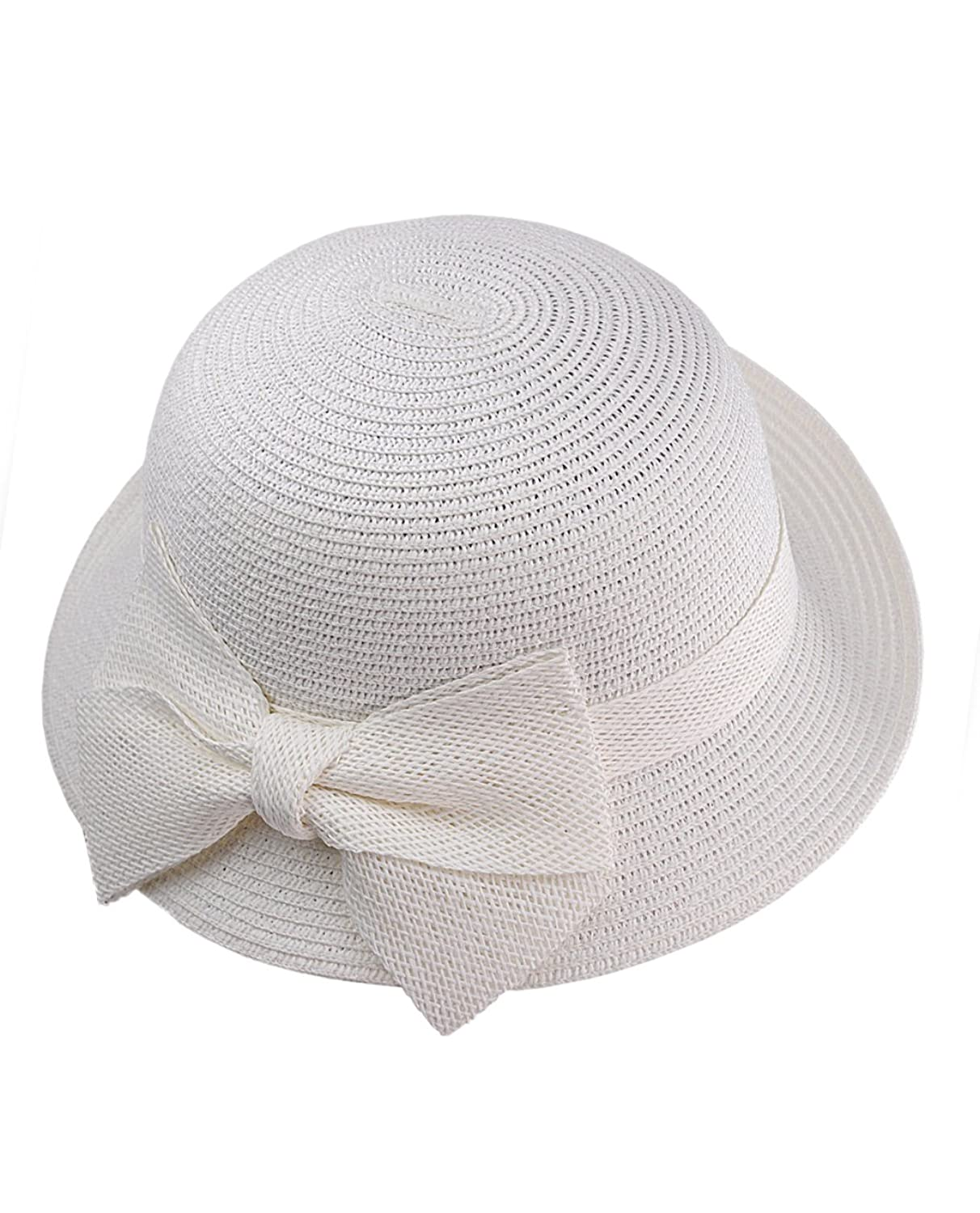 Bow Flip Cloche Bucket Hat w/ Woven Bow Accent $14.98 AT vintagedancer.com