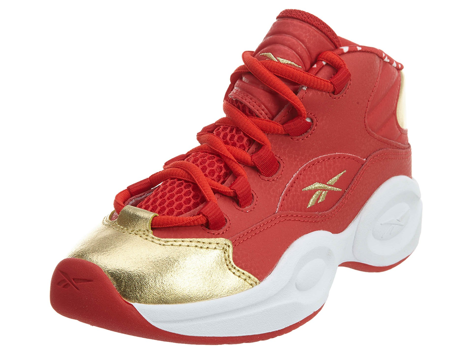 Reebok Question Mid Youth US 13.5 Red Basketball Shoe