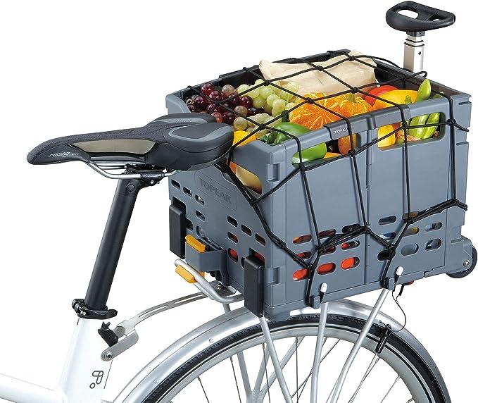 Topeak Gepäcknetz Für Fahrradtasche Und Korb Schwarz 40 X 40 Cm Sport Freizeit