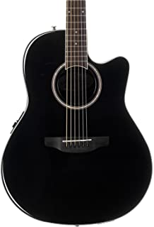 Ovation Applause 6 String Acoustic-Electric Guitar Right, Black Mid-Depth AB24II-