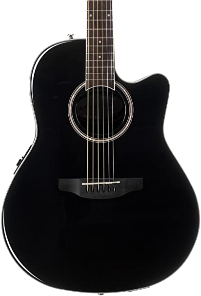 9971b2156c Ovation Applause 6 String Acoustic-Electric Guitar Right, Black Mid-Depth  AB24II-