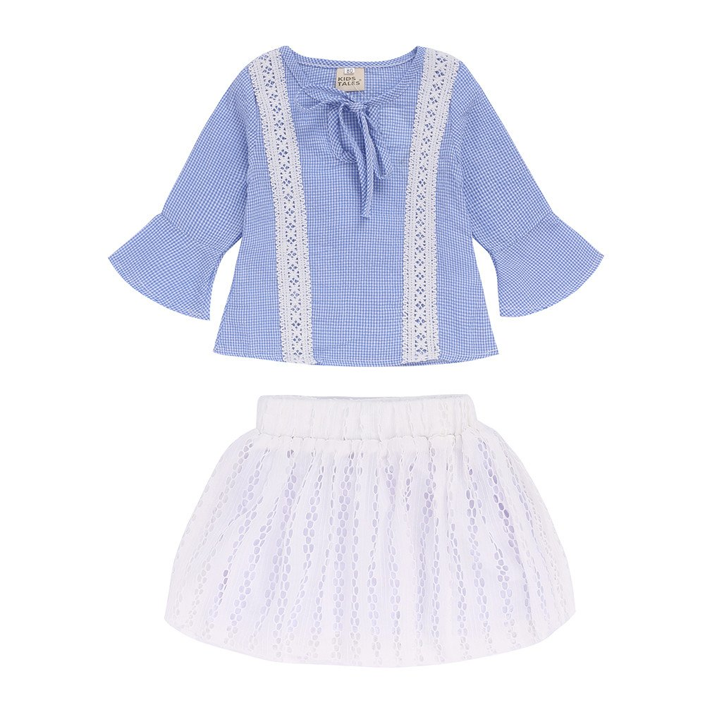 2pc Kids Baby Girl Lace Long Sleeve Tops+Dress Skirt Outfit Set Fall Clothes Fuzhou Shang Ku Trade Co. Ltd.