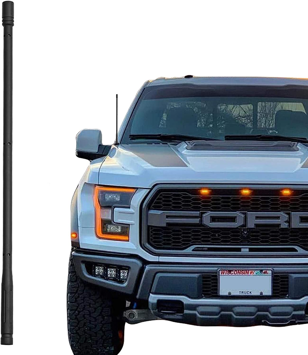 KSaAuto 13 Inch Antenna Compatible with Ford F150 2009-2020, Designed for Optimized FM/AM Reception
