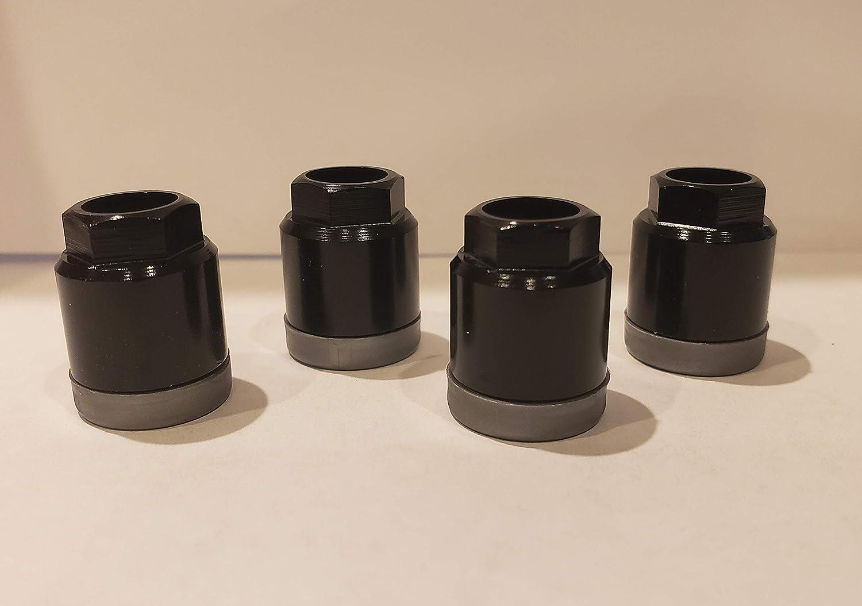 Universal Black TPMS Sensor Air Valve Stem Mounting Nut Set of 4 Muzzys 10001