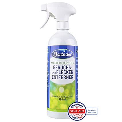 Quiko bactador Spray 750 ML | Eliminador de olores y – Quitamanchas | biológico gischer Limpiador