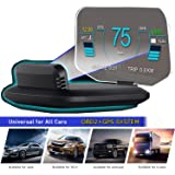 """YUGUANG 6"""" HUD Display Car OBD2, Suspended Virtual Display Head Up Display C1 HUD Display 5 Modes OBD+GPS Dual System Speedometer Mileage Diagnostic Tools, Read Data Flow Fault Alarm Fault Clearing"""