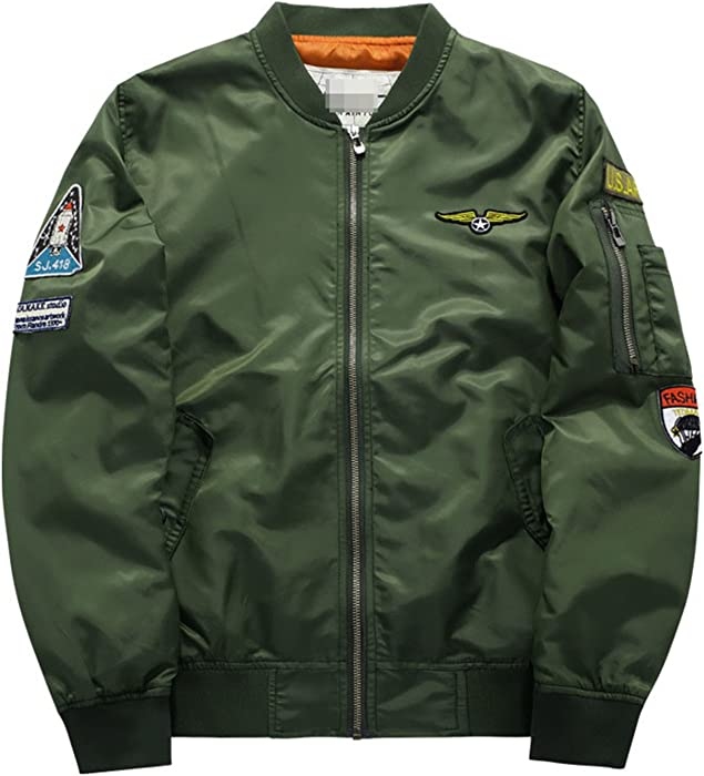 Amazon.com: YouzhiWan007 Military Jacket Men Mens MA-1 ...