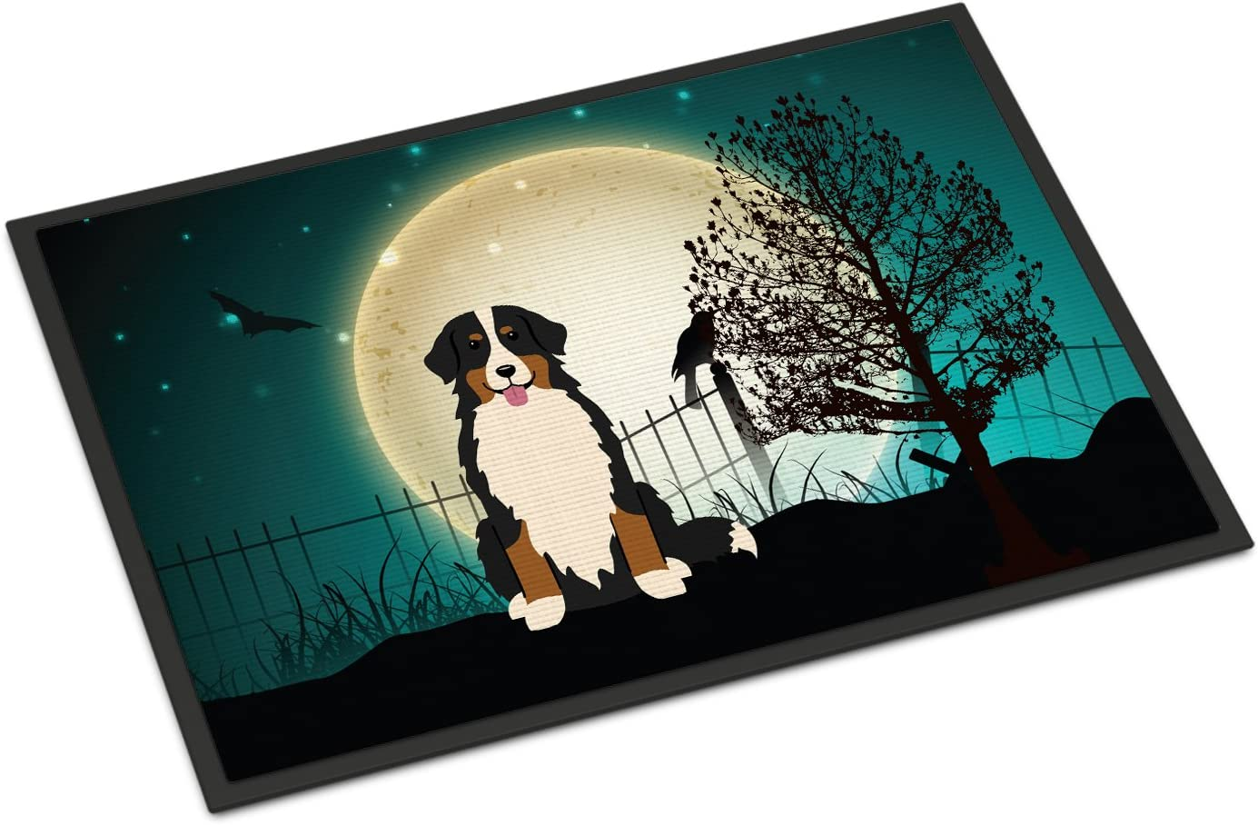 Multicolor Carolines Treasures Halloween Scary English Foxhound Floor Mat 19 x 27