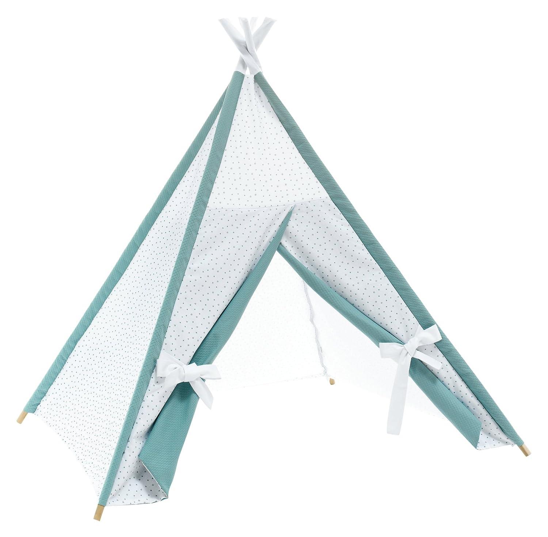 Alondra Mare 181 - Tipi cabañ a indios con estrellas, color blanco/verde agua 646-181