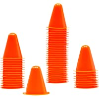Juvale Indoor Outdoor Agility Mini Sports Cones for Kids – Pack of 50 – Orange