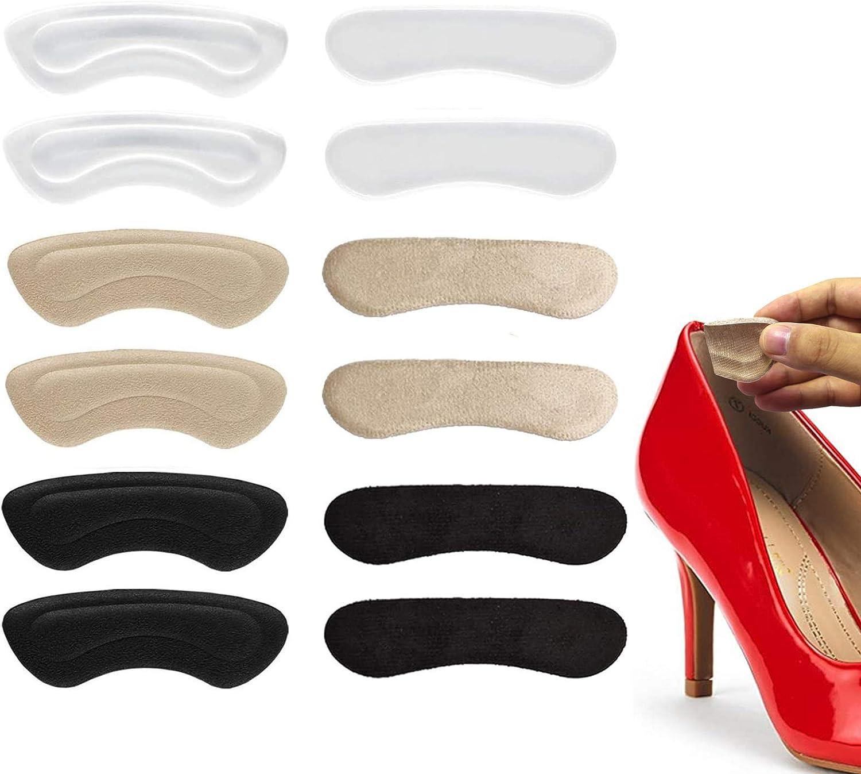 autoadhesivas para el cuidado de los pies c/ómodas beige beige para el tal/ón 8 pares de almohadillas para el tal/ón