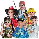Lanlan Children Halloween Role-play Costume Accessories Pirate Dress Up Pretend Caribbean Pirate Playset for Kids