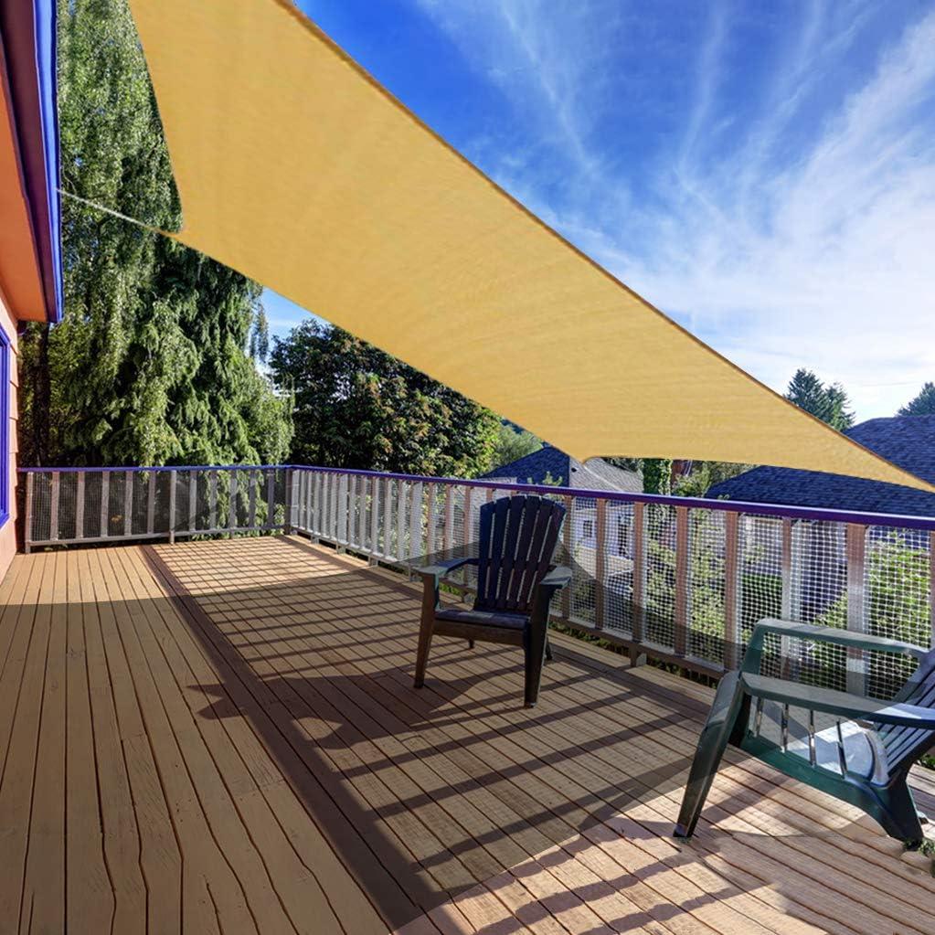 AXT SHADE 12' x 12' Square Sun Shade Sail UV Block for Outdoor Patio Garden Backyard Lawn, Sand