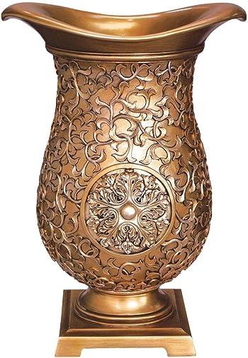 OK Lighting Elegant Golden Decorative Vase