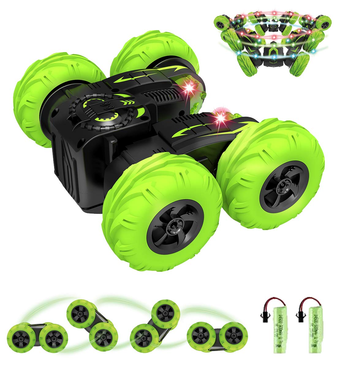 POWERbeast RC Cars Stunt Car Toys for Boys, 2.4Ghz Remote Control 4WD Car, Double Sided Rotating,360° Flips and Spin,Toy Gifts for 2, 3, 4, 5, 6, 7, 8 Year Old Boy