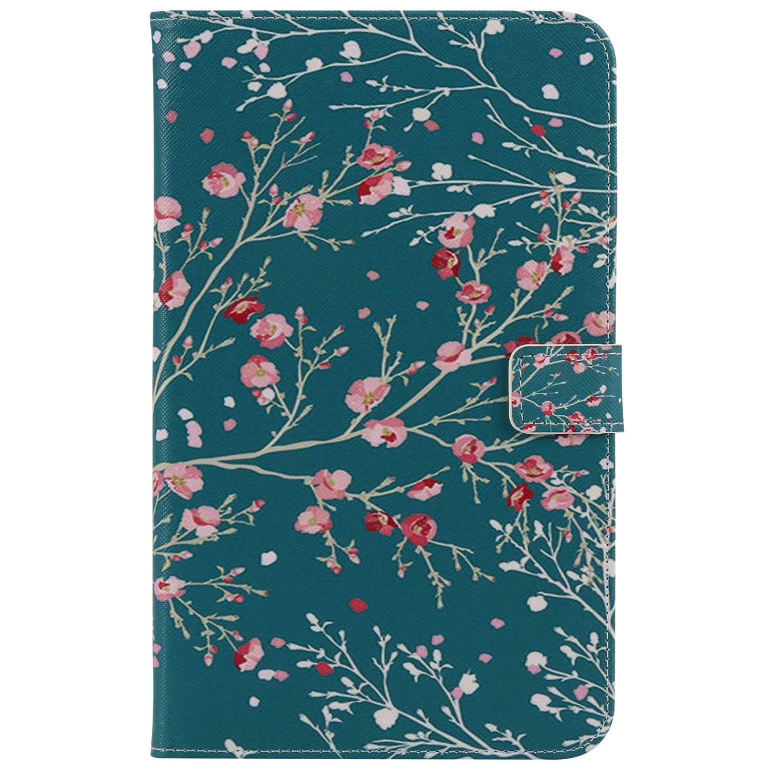 Bear Village Galaxy Tab 4 8.0 Inch Case, Anti Scratch Shell with Adjust Stand, Colorful Design Leather Stand Case for Samsung Galaxy Tab 4 8.0 Inch, Flower by Bear Village