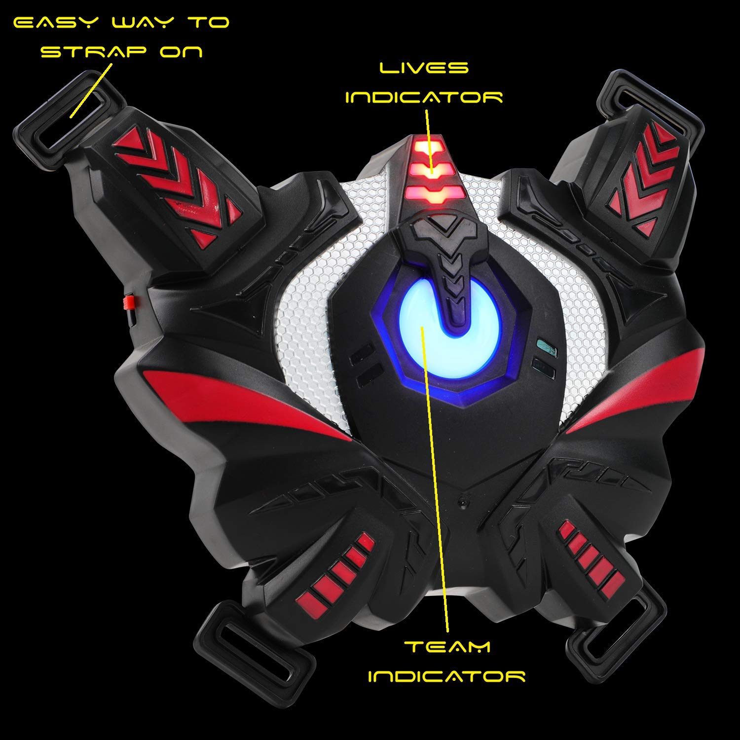 Falconz 4 Player Laser Tag Set with 4 Guns and Vests - Great Indoor or Outdoor Fun for Both Kids and Adults by Falconz (Image #3)