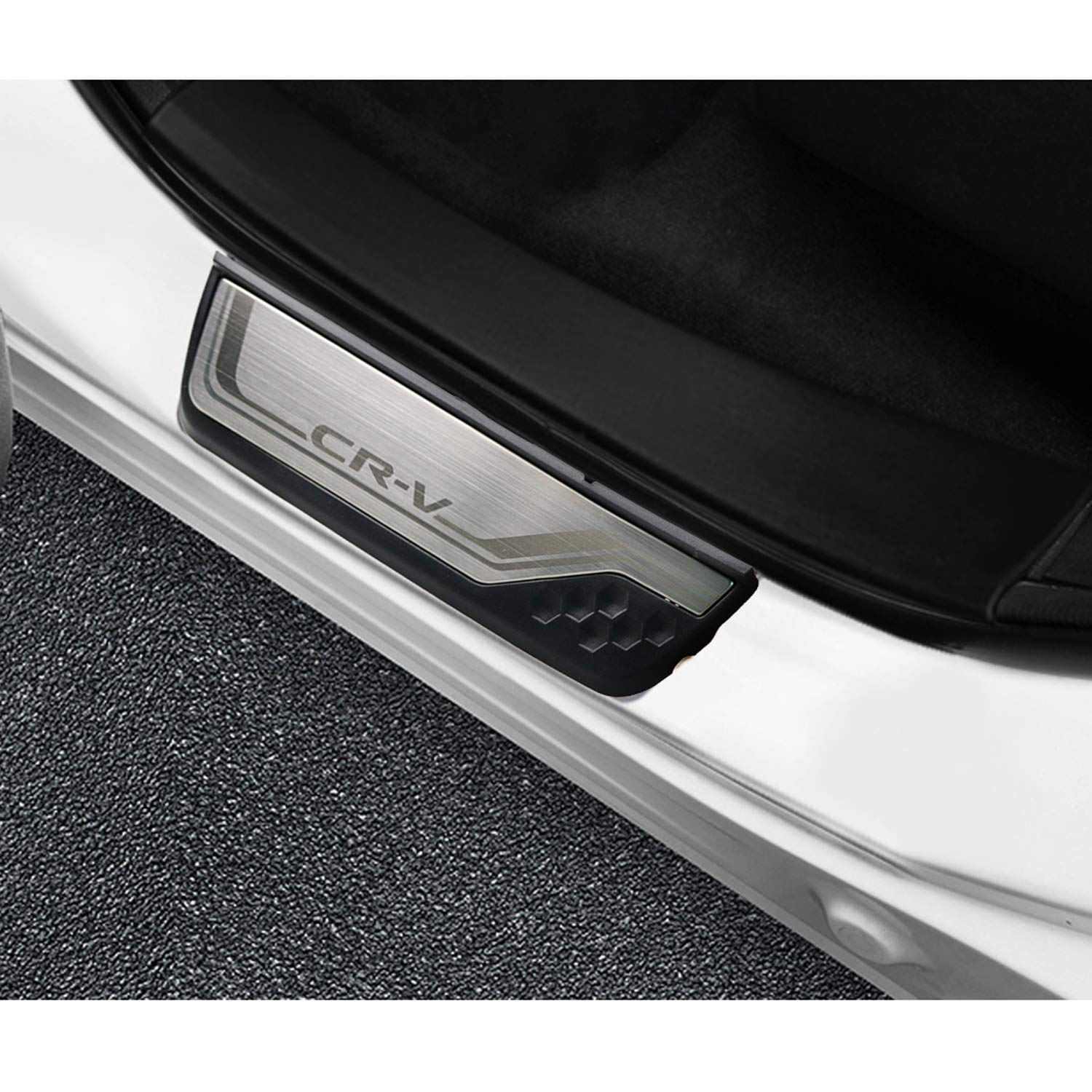 Scuff Plate Protector Sticker Car Styling Threshold Cover Protection Trim 4 Pcs Stainless Steel Car Kick Plates Pedal YEE PIN Door Sill Protector for CRV 5