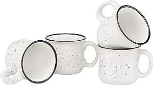 Culver 14-Ounce Campfire Ceramic Mug Set of 4 (White)
