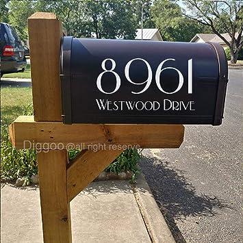 Diggoo Personalisierbarer Briefkasten Aufkleber Mit