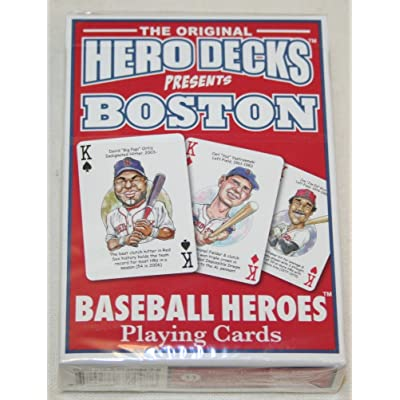 Channel Craft Hero Decks - Boston Red Sox - Playing Cards: Toys & Games