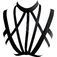 Add Health Las mujeres Pentagram arnés de tiras del sujetador de los platos estrella de cinco puntas servidumbre