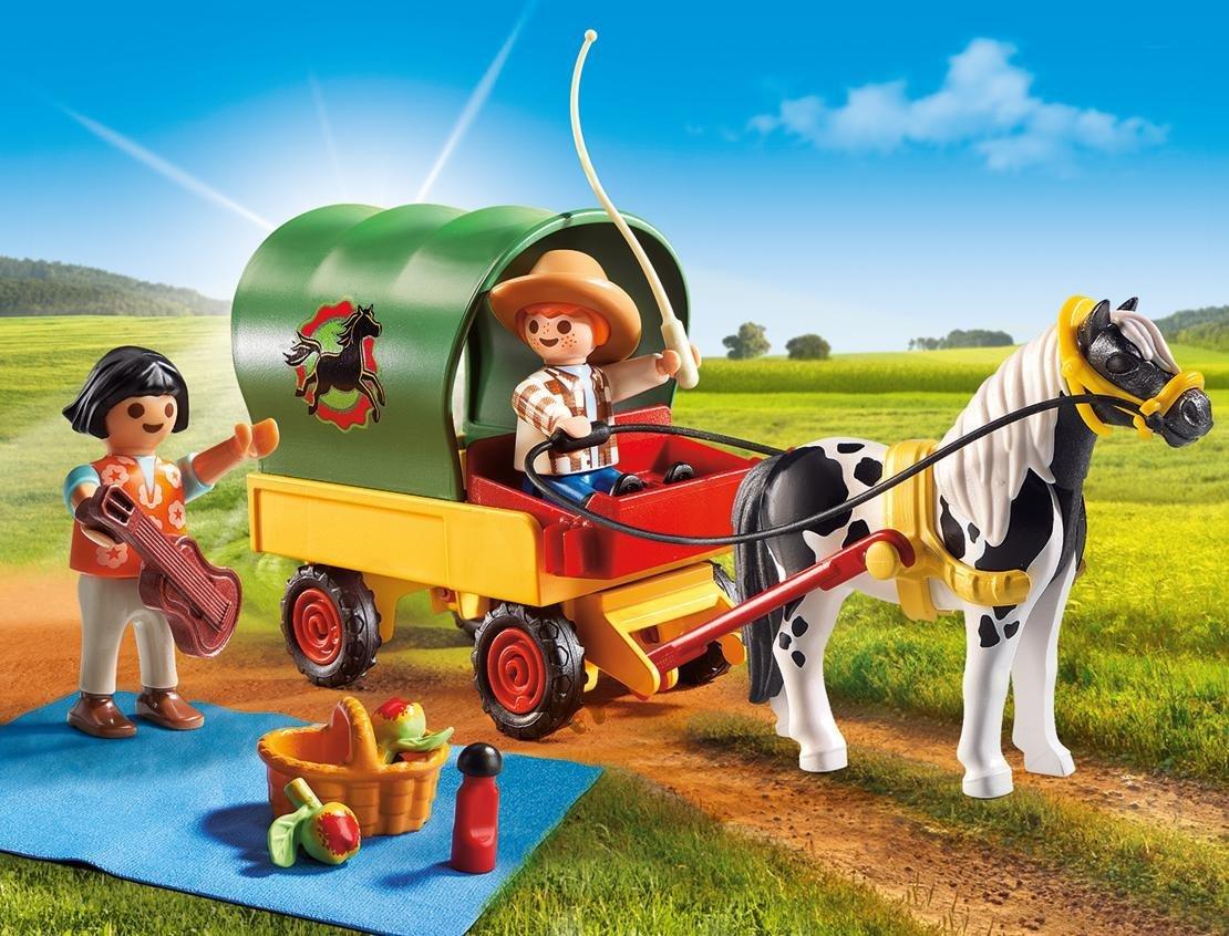 Cranbury 5686 PLAYMOBIL Picnic with Pony Wagon Playmobil