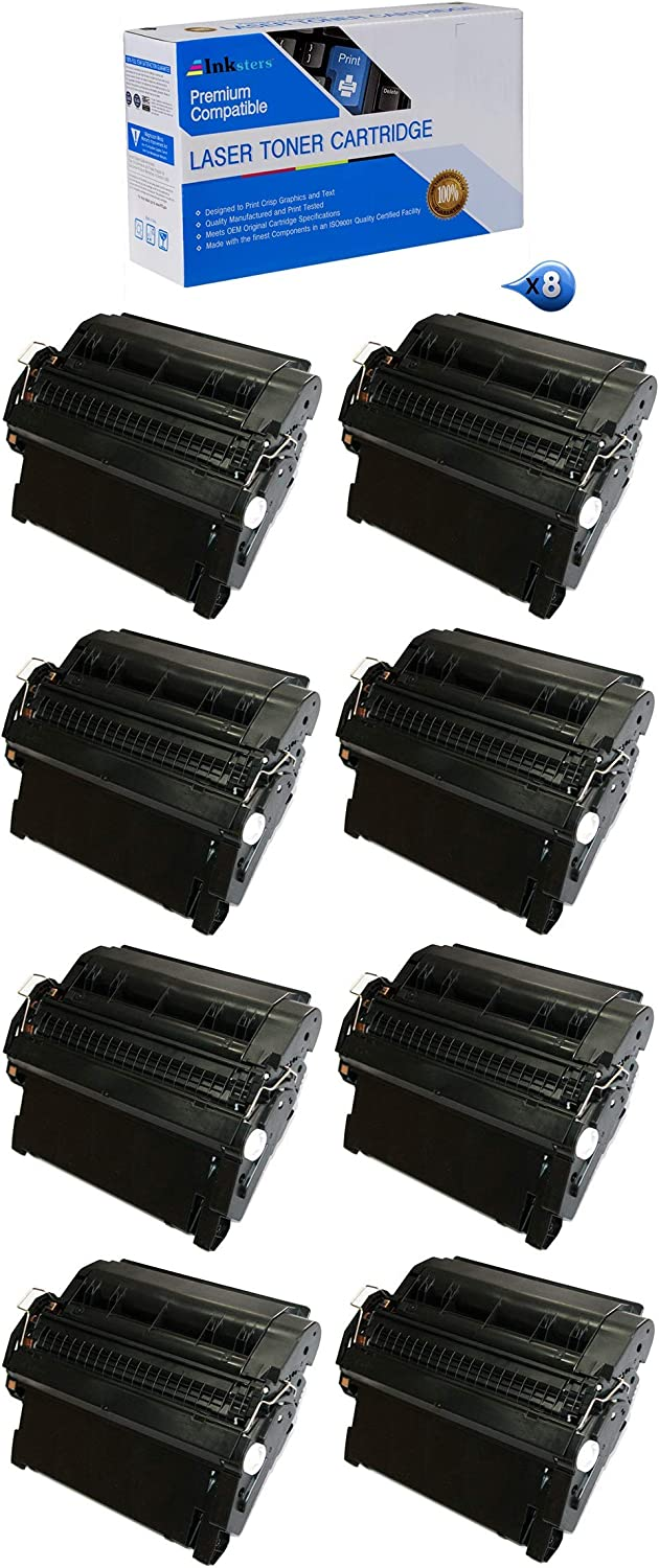 Compatible with Laserjet 4240 4240N/4250/4250DTN/4250N Inksters Compatible Toner Cartridge Replacement for HP 42A 8 Pack Q5942A Q3842 Black