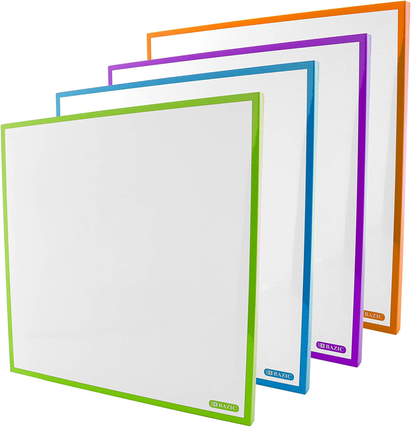 Show-me CFB0410A 4-Frame Clock-Face Dry wipe Boards Pack of 10 Small Kit