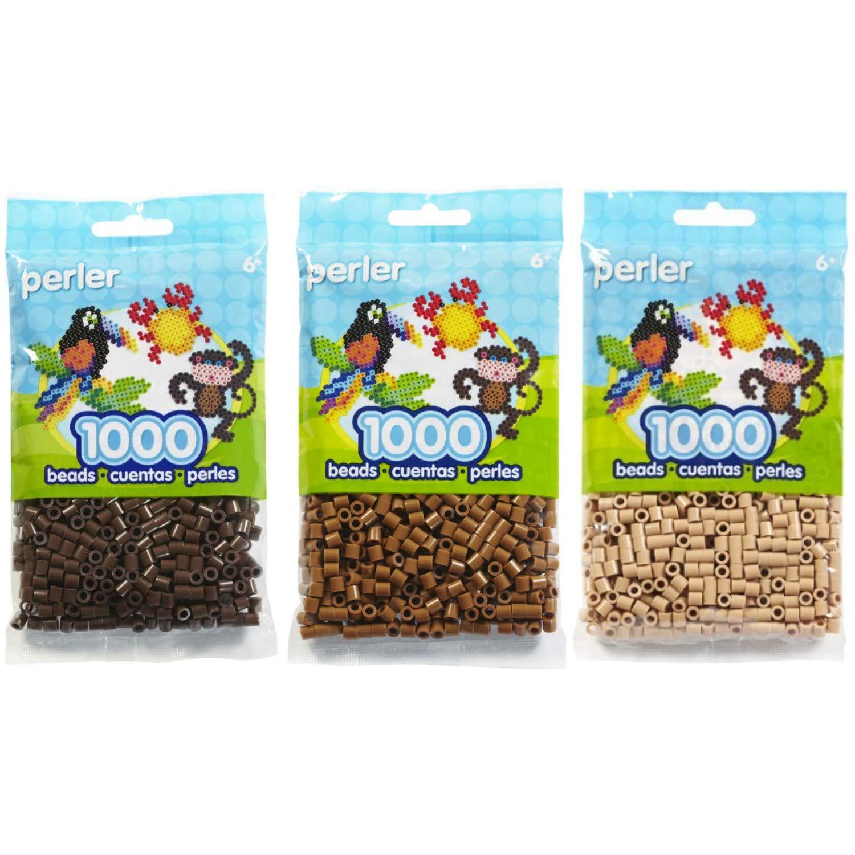 Canutillos Beads 3000 Unidades Colores marrones pack