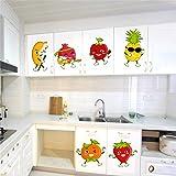 Rawpockets 'Fruits Cartoon' Wall Sticker (PVC Vinyl, 1 cm x 30 cm x 120 cm)