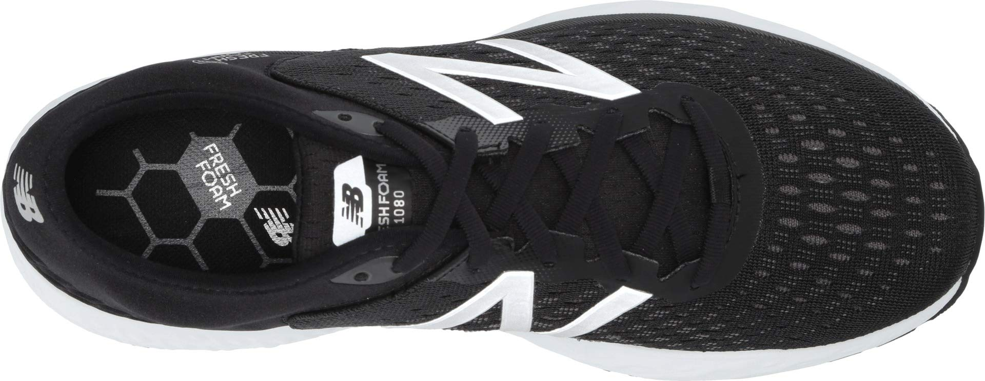New Balance Men's 1080v9 Fresh Foam Running Shoe, Black/White, 7 W US by New Balance (Image #2)