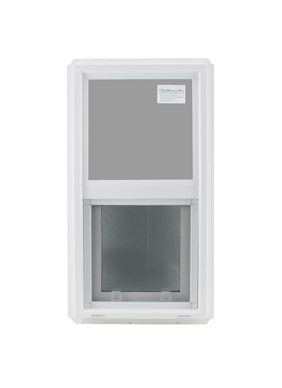 Double Pane Window 14 X 27 Tempered Glass Low E Pvc Frame