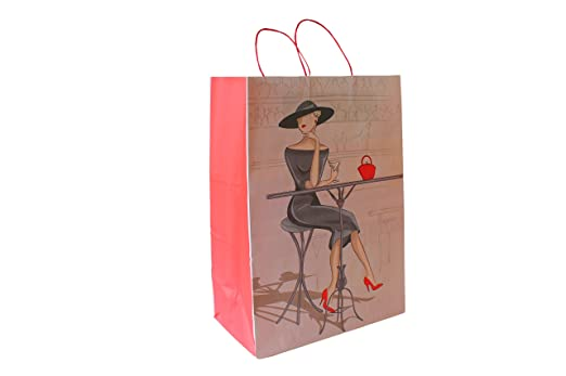 Bolsas de papel con cordel roja
