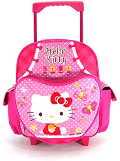 3efd17af4 Amazon.com | Sanrio Hello Kitty Rolling Backpack Kitty Wheeled 12 ...