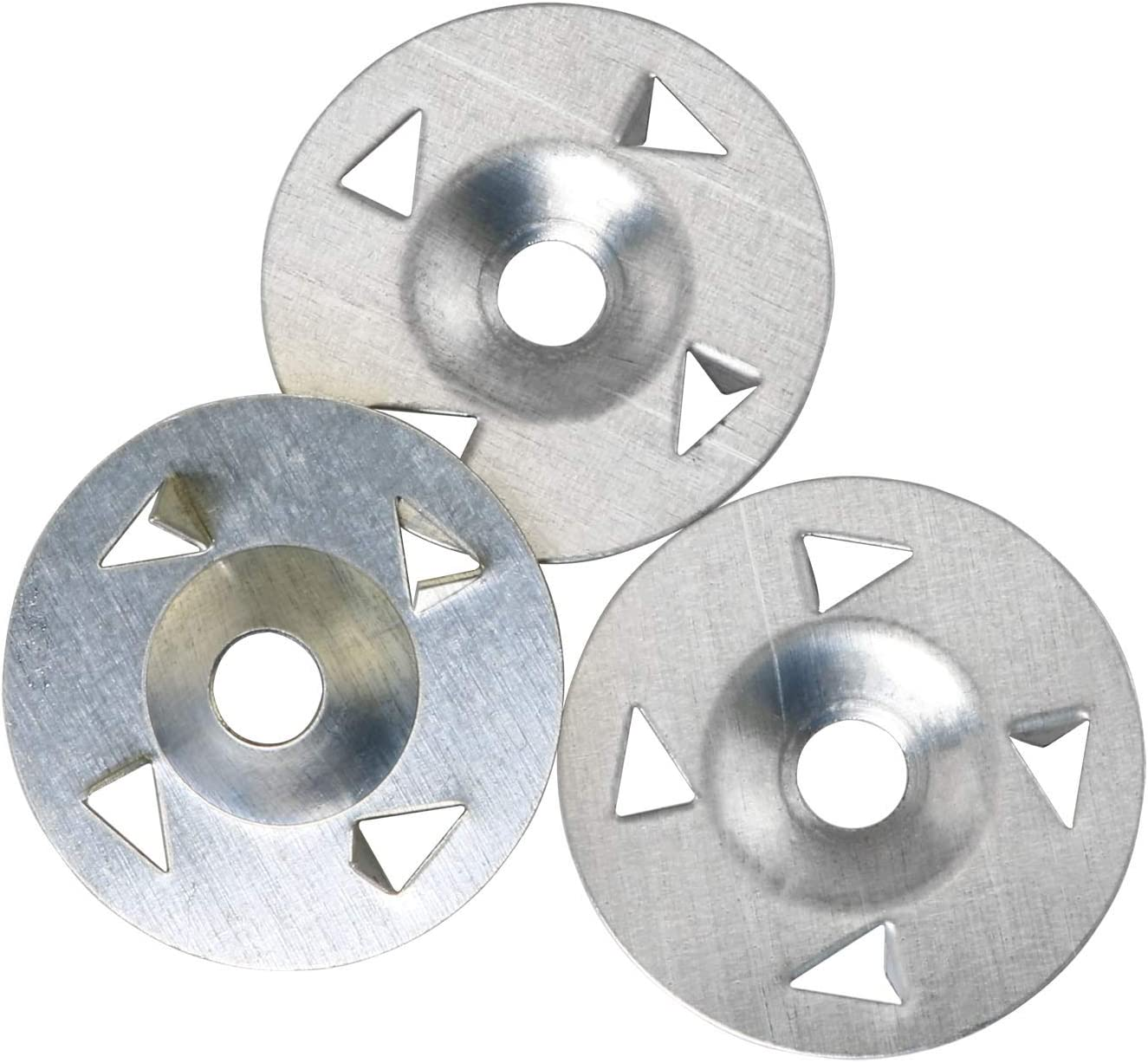 ToToT 50pcs 4-Claw Washer Composite Plate Fixed Nail 28mm for Gypsum Board, Extruded Plate, Foam Board, Rock Wool Board