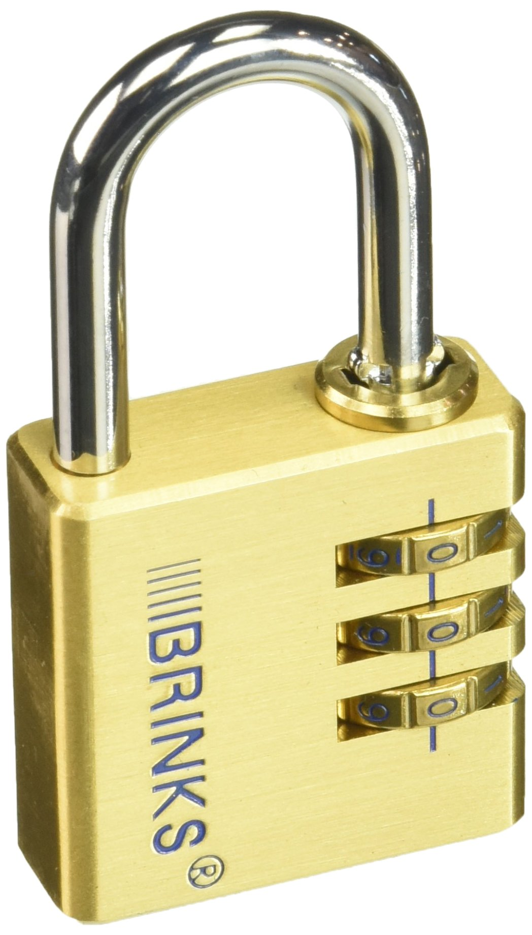 Keeper Brinks 171-40051 40mm Solid Brass 3-Dial Resettable Lock