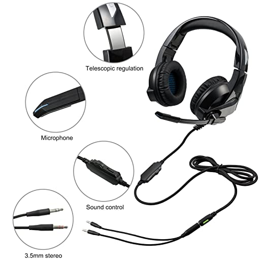 Gaming Headset For Ps4xbox Oneamicool Stereo Bass Surroundnoise
