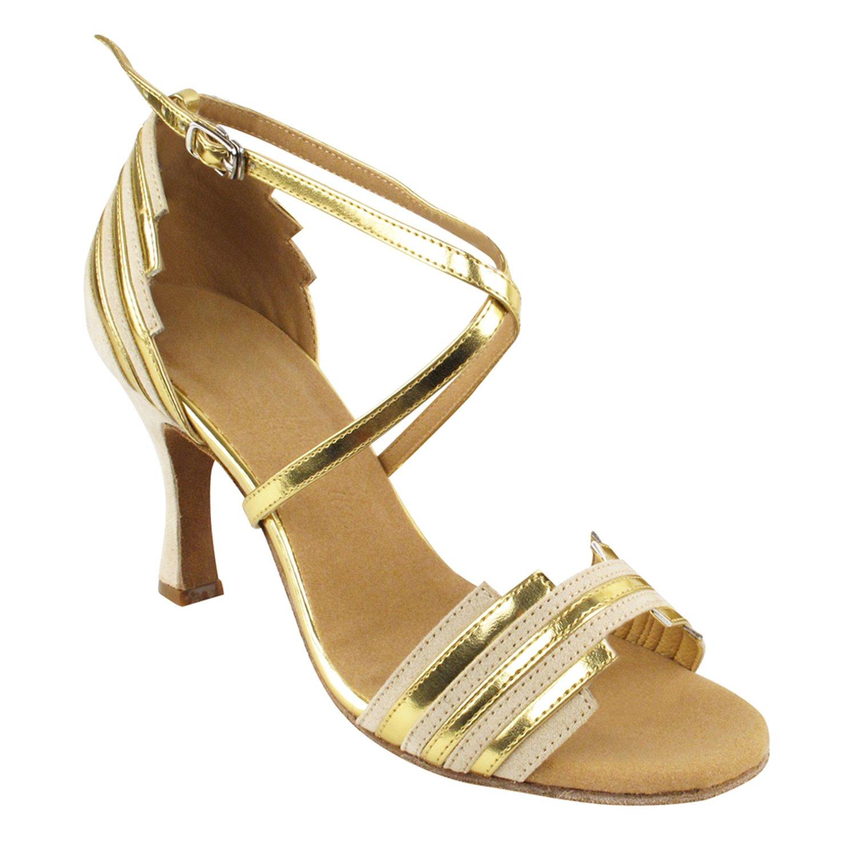 数量は多 [Gold Pigeon Shoes] レディース B075J21VYT Nubuck/Gold Heel 5 3