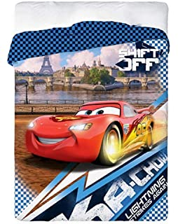 Copripiumino Cars 1 Piazza E Mezzo.Russo Tessuti Trapunta Piumone Cotone Letto Singolo 1 Piazza Disney