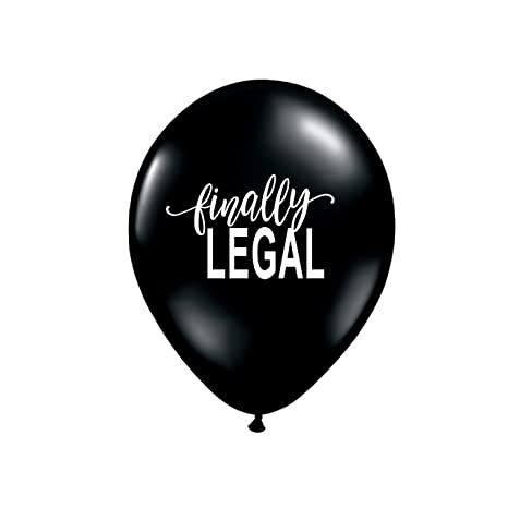 Finally Legal Balloons 18th Birthday Party Decorations 21st Marijuana Legalization