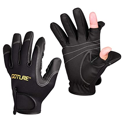 Amazon Com Goture Outdoor Sport 2 Cut Fingers Gloves Anti Slip