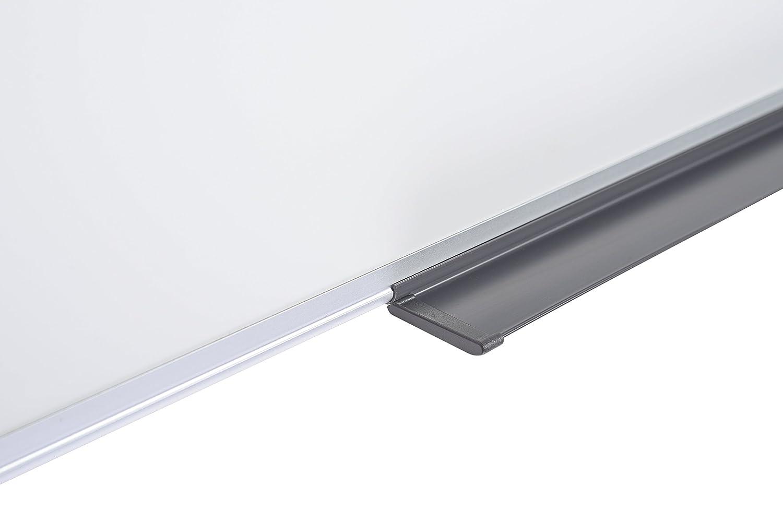 Bi-Office Maya Tableau blanc magn/étique avec cadre en aluminium 60 x 45 cm Blanc