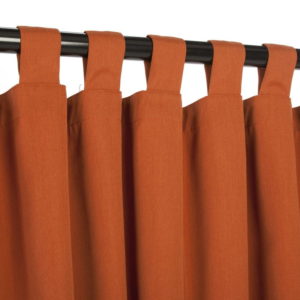 Outdoor Curtains CUR84RSS 54 in. x 84 in. Sunbrella Outdoor Curtain with Tabs - Rust B007HQMUVW