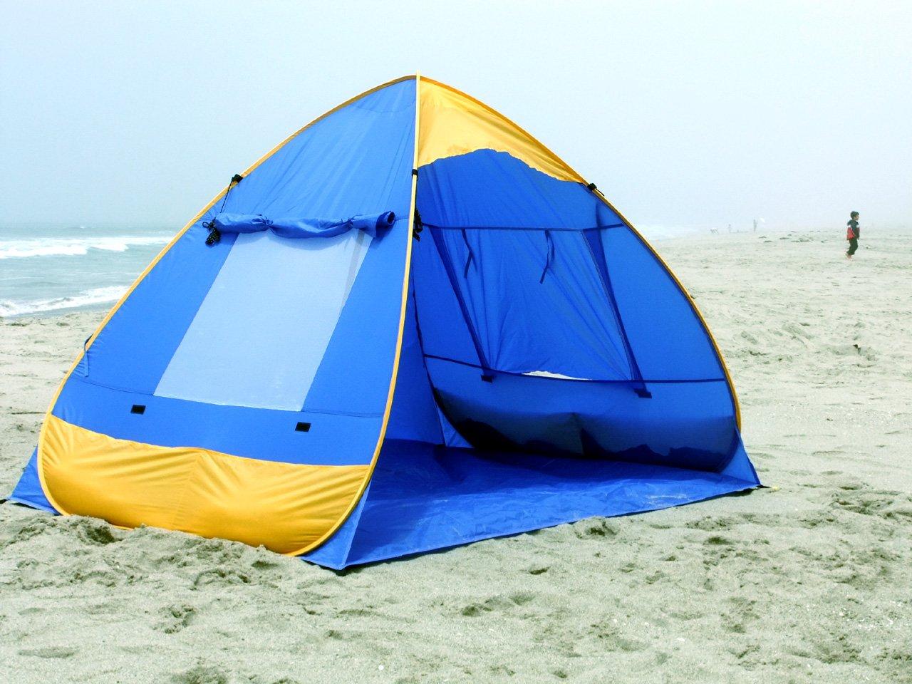 Genji Sports Pop Up Family Beach Tent and Beach Sunshelter Amazon.ca Sports u0026 Outdoors & Genji Sports Pop Up Family Beach Tent and Beach Sunshelter: Amazon ...
